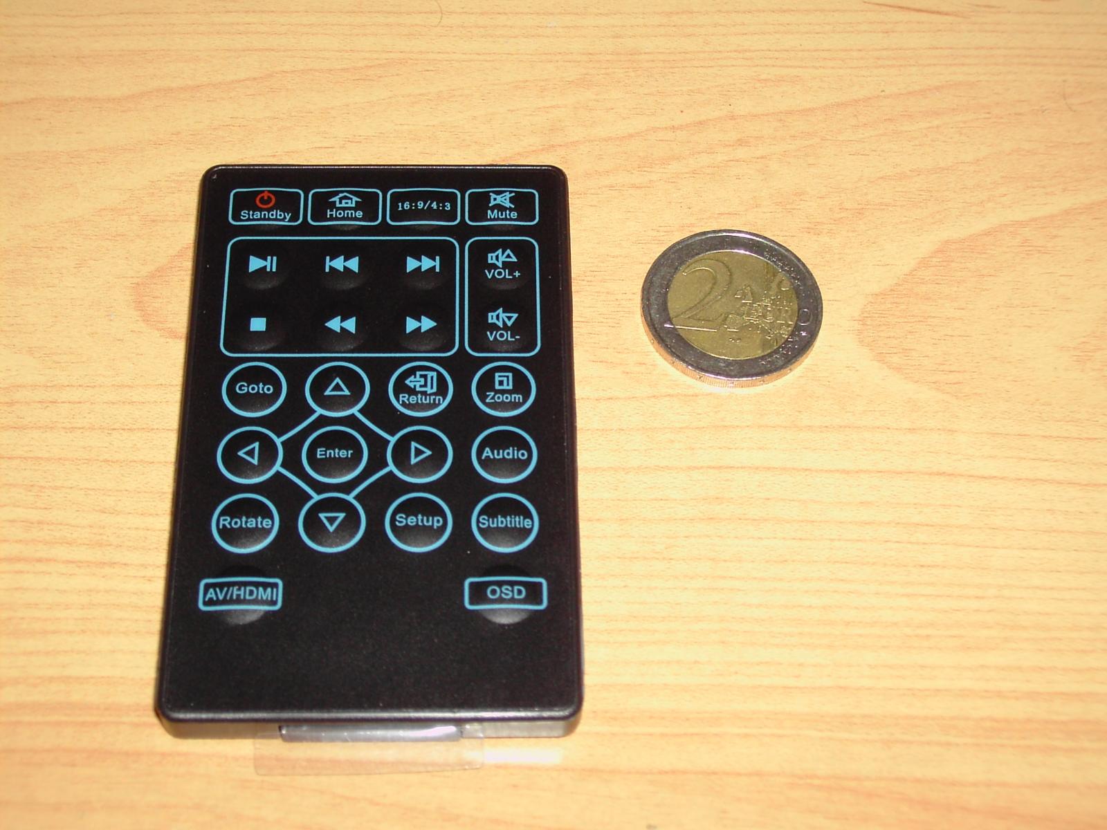 Telecommande Vs Pièce de 2€